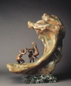 Camille Claudel, The Wave (The Bathers.) 1897. Image via the Detroit Institute of Arts. More info at the Rodin Museum.